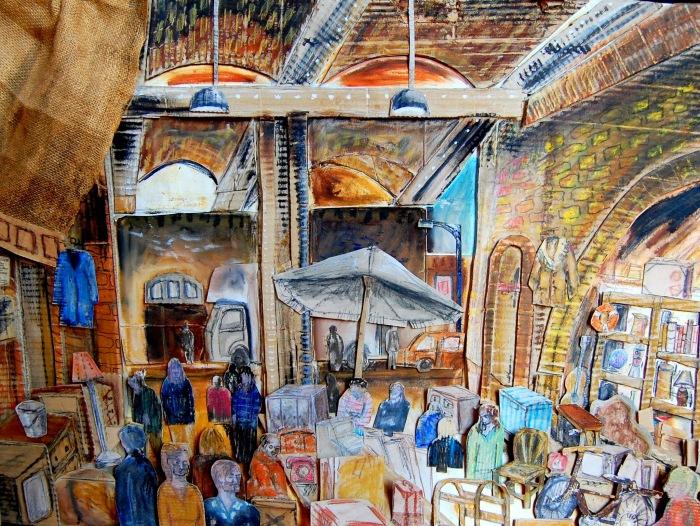 Brick Lane Antiques Market | Mixed Media | 841 x 594mm | £600