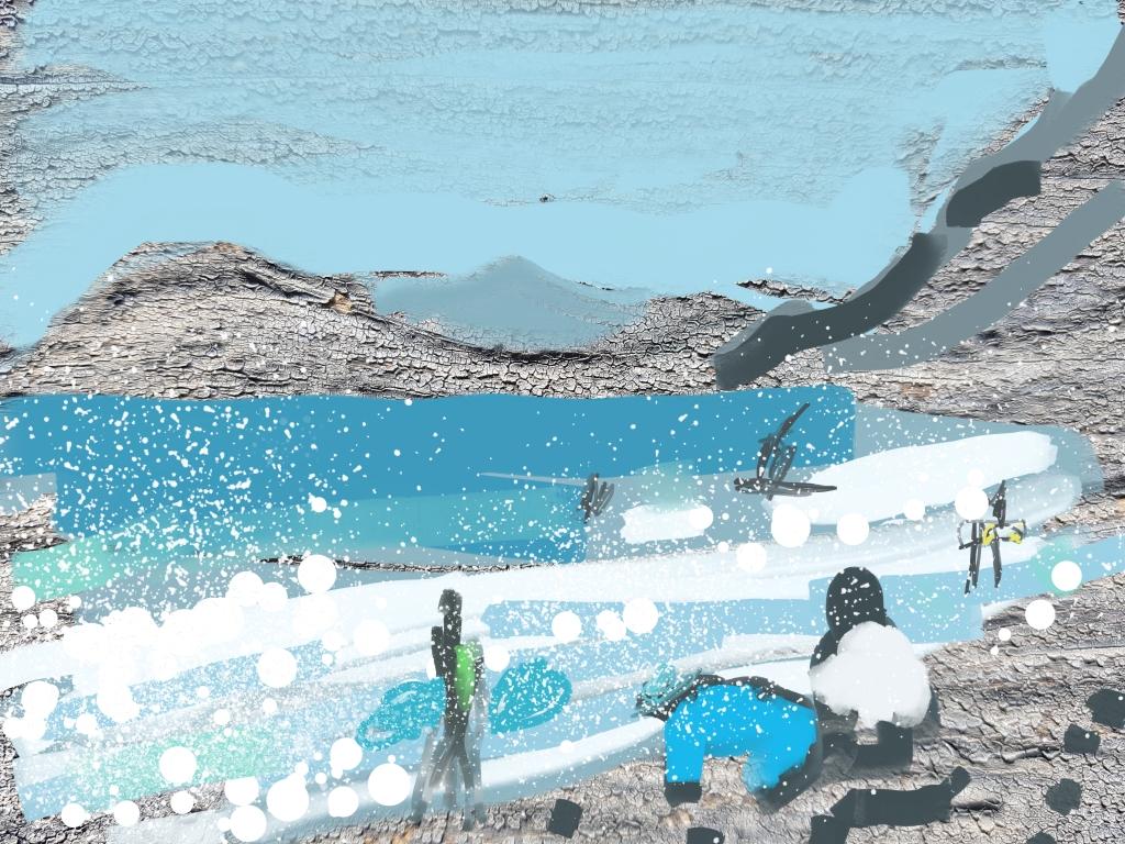 La Pagoma Surfers, Lanzarote   Digital Art   210 x 297mm   £150