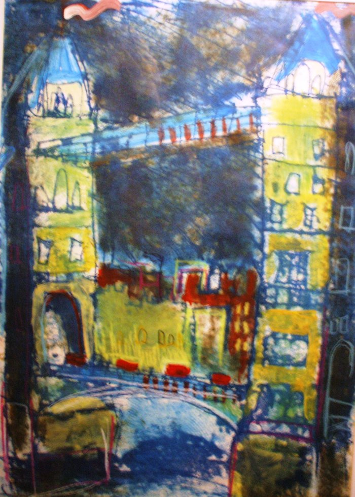Tower Bridge | Monoprint | 398 x 514mm | Original Sold, Available as a Print