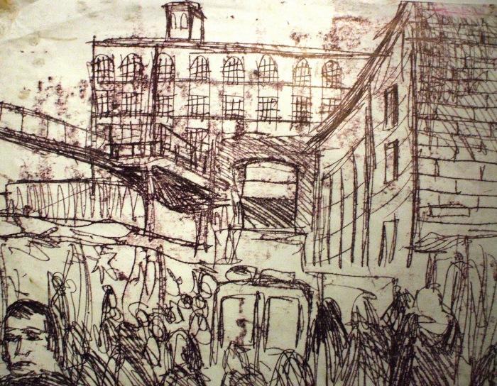 Camden Lock Market | Monoprint | 550 x 410mm | £425.00
