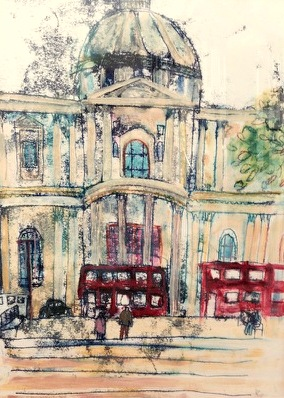 St Paul's Cathedral | Monoprint | 390 x 458mm | Original sold, available as a print.
