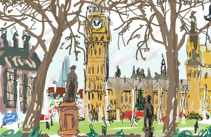 Houses of Parliament | Digital Art | Available in any size | Price starts at £150 for 297 x 210mm