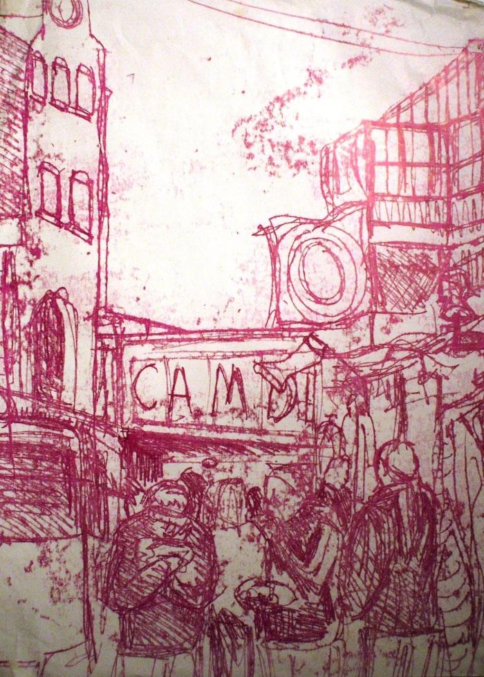 Camden Market | Monoprint | 410 x 560mm | £425.00