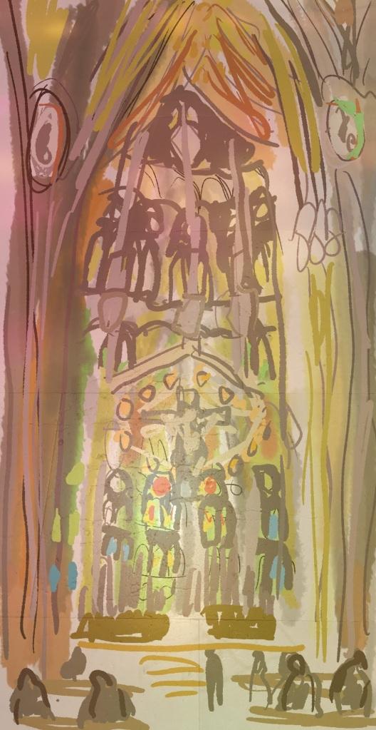 Glowing La Sagrada Familia | Digital | 210 x 297mm | £150