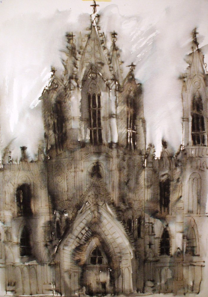 Barcelona Cathedral | Pen and Ink | 490 x 740mm | £340