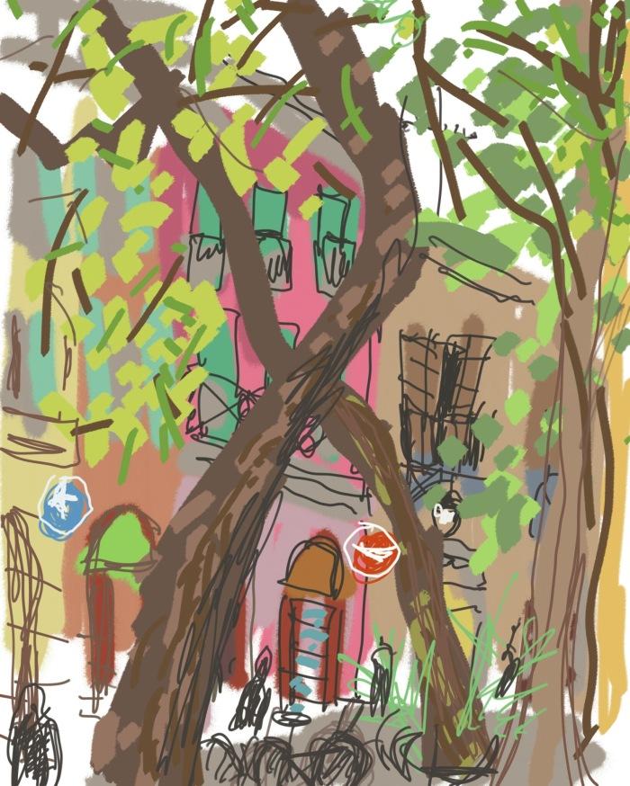 Lunch in Las Ramblas, Barcelona | Digital Art | 210 x 297 | £150