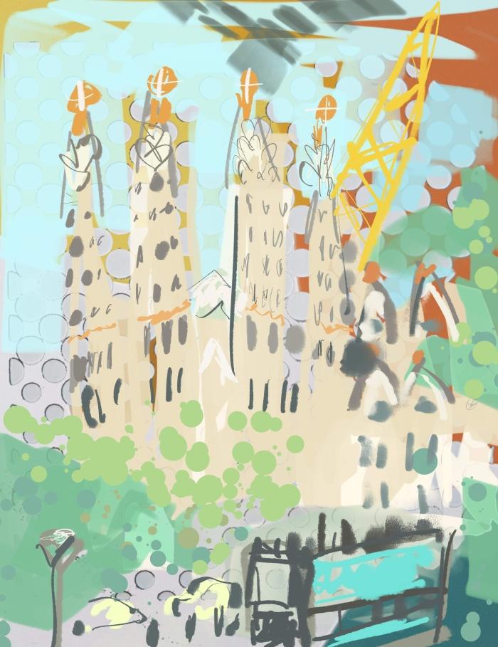 The Ever-Changing La Sagrada Familia | Digital Art | 210 x 297mm | £150