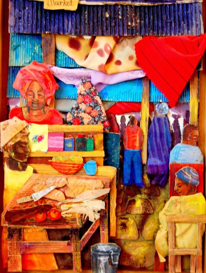 Gambian Market   Mixed Media   290 x 420   £400