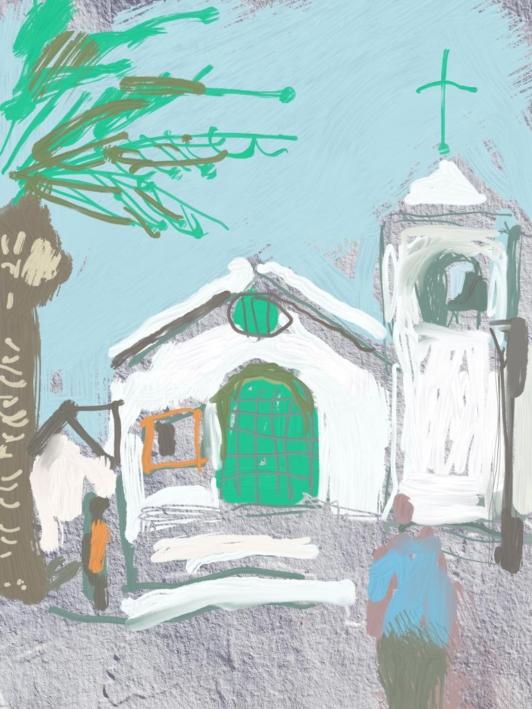 Lanzarote Church   Digital Art   210 x 297mm   £150
