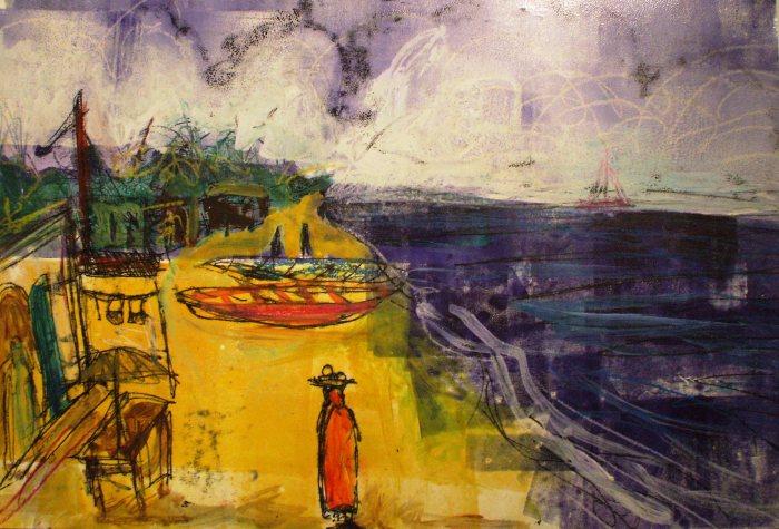 My Favourite Gambian Beach   Monoprint   440 x 310mm   £395