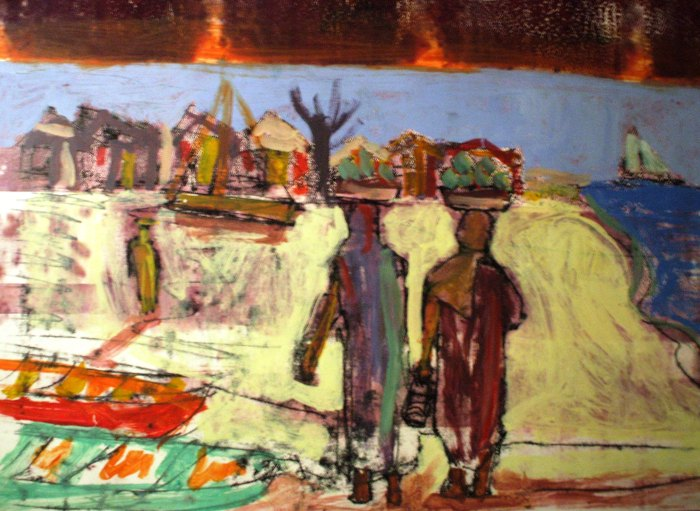 Coming back from Market   Monoprint   595 x 410mm   £425