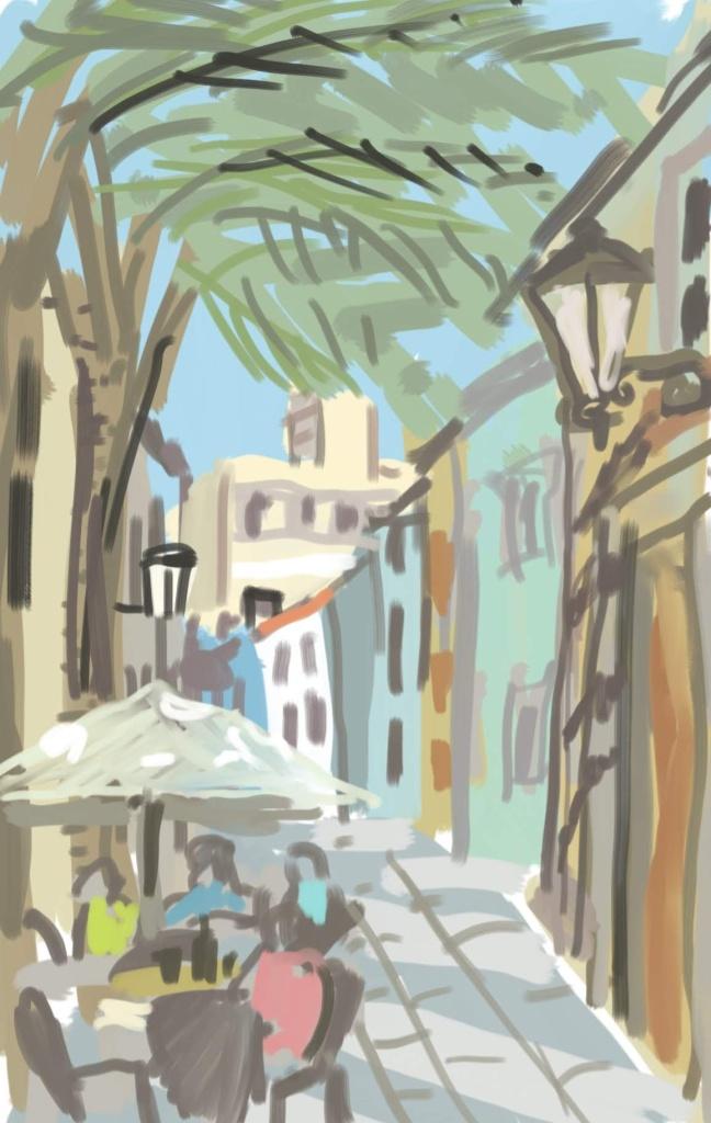Siesta Time in Gran Canaria   Digital Art   210 x 297mm   £150