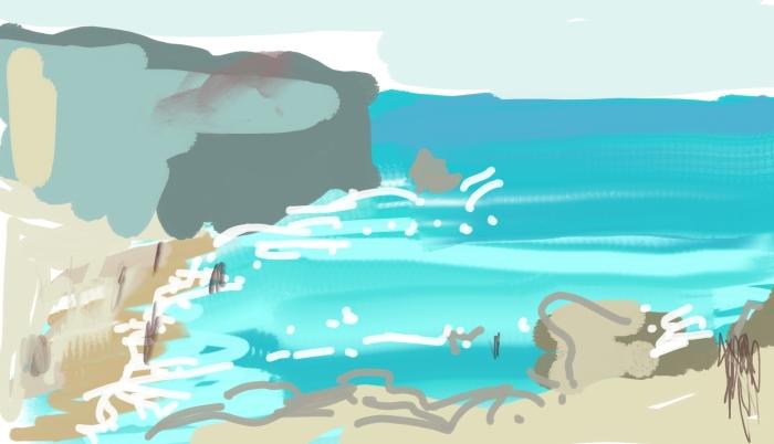 Papagayo Beach, Lanzarote   Digital Art   297 x 210mm   £150