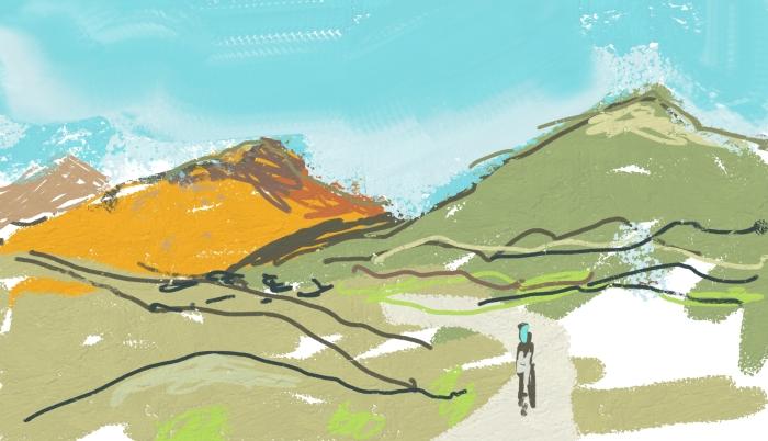 Lanzarote Volcanoes   Digital Art   297 x 210mm   £150