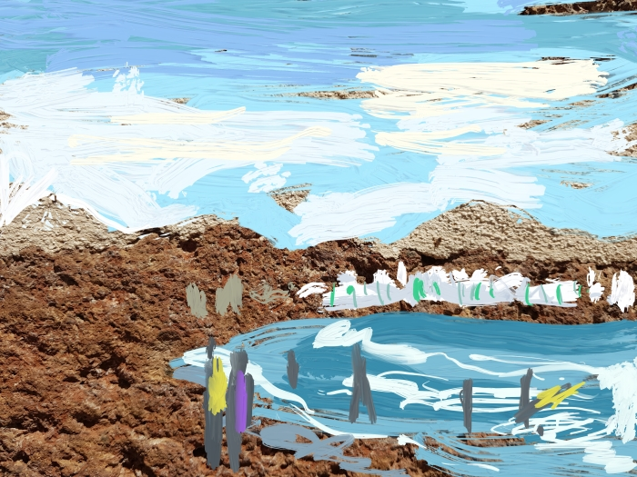 The Silence of the waves, Lanzarote   Digital Art   297 x 210mm   £ 150
