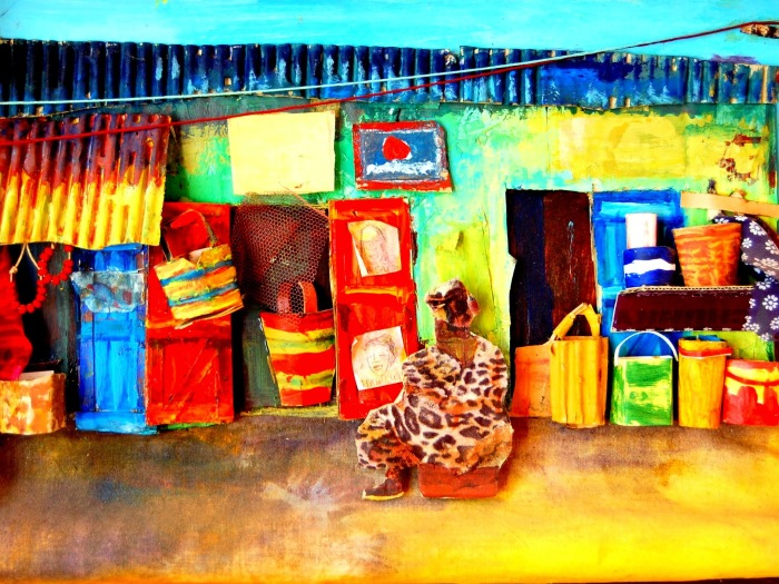 Heat of the Midday Sun   Mixed Media   420 x 290mm   Sold original, available as a print