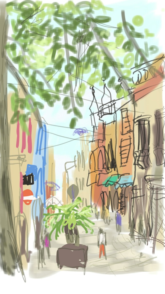 Santa Cruz, Tenerife   Digital Art   210 x 297mm   £150