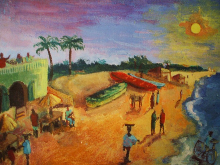 My Favourite Gambian Beach   Acrylic   440 x 300mm   Original sold, available as a print