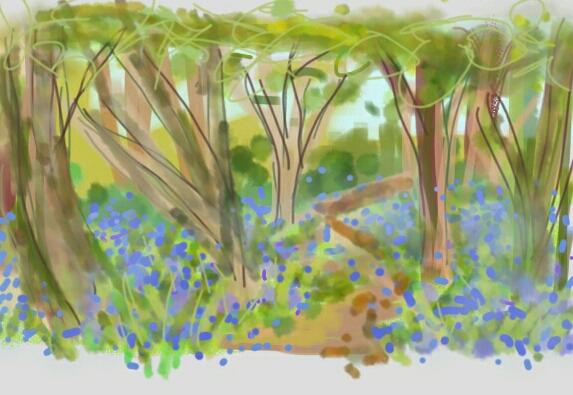 Bluebell Woods | Digital Art | 210 x 297mm | £150Bluebell Woods | Digital Art | 210 x 297mm | £150