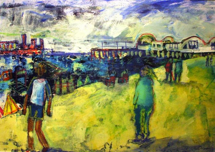 Portsmouth Beach | Monoprint | 420 x 300mm | £395