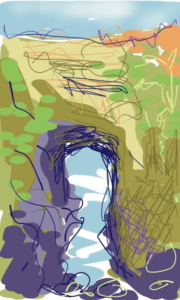Lundy Bay | Digital Art | 210 x 297mm | £150