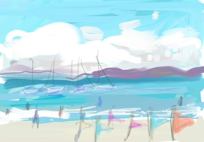Flags at St Cast, Brittany | Digital Art | 297 x 150 | £150