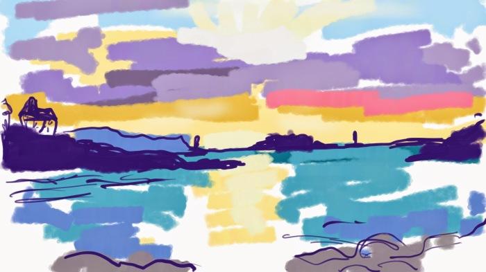 Dinard Sunset, Brittany | Digital Art | 297 x 210mm | £150