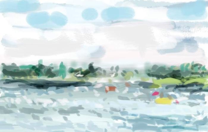 Cloudy Jugon, Brittany | Digital Art | 297 x 210mm | £150