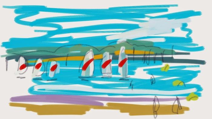 Sailing at St. Jacut de la Mer, Brittany | Digital Art | 297 x 210mm | £150