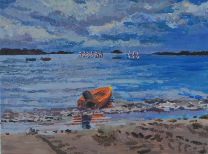 Calm before the Storm | Acrylic | 420 x 300mm | Original was gift; available as a print