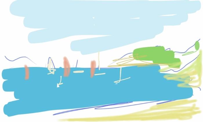 Lancieux Beach, Brittany | Digital Art | 297 x 210mm | £150