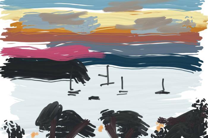Sandbanks Sunset | Digital Art | 297 x 210mm | £150